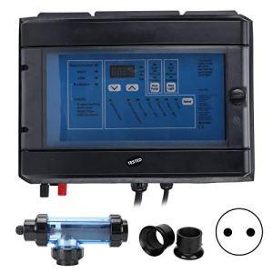 Omabeta 20g/h système de chlorateur de sel 100W générateur de Chlore électronique électrolyseur Traitement de l'eau pour Piscine Spa 230-240V(European regulations)