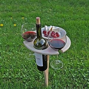 Outdoor Wine Picnic Table,Portable Folding Wine and Champagne Picnic Table,Outdoor Folding Wine Table (2 PCS)