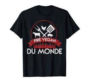 PIRE VEGAN DU MONDE – bbq, barbecue humour T-Shirt