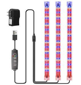 Plant LED Grow Light petite lampe de croissance avec 10 niveaux dimmables et 3 modes de commutation de lumière Lampe LED pour plantes avec minuterie 3/9 / 12H pour plantes d'intérieur