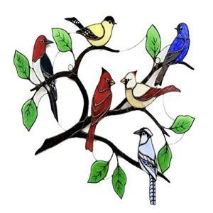 Prevessel Plusieurs Oiseaux Décoration Pendentif Haute Teinté Fenêtre Ornements Suspendus Cadeaux Créatifs Oiseau Série Statue Pendentif Décoration de La Maison pour Patio Cour Décor Fête