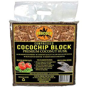 Prococo CocoChip Les copeaux de noix de coco bio de qualité supérieure font 75 litres de substrat de culture de noix de coco pour la plantation.
