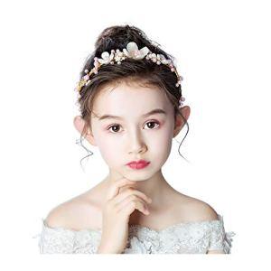 Q Couronne de fleurs faite à la main pour enfants – Couronne de fleurs – Accessoire de cheveux simple coréenne réglable