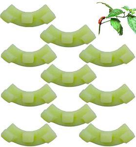 QINGYA Cintreuse de Plantes à 90 Degrés pour la Formation à Faible Stress et la Formation des Plantes Pinces à Brindilles Pinces de Dressage de Plantes de Tomates (10PCS, Green)