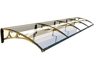 QWEIAS Porte-fenêtre Auvent Aluminium Plastique Rigide Fixe Auvent de Plein air Moderne Design Eau Rain Résistance (Taille : 60x80cm)