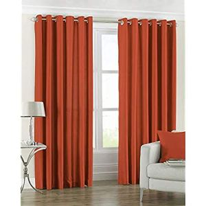 Riva Home Fiji 168X229 R/Top Curtain B/ORG, Tissu, Burnt Orange, 66×90 (168x229cm)