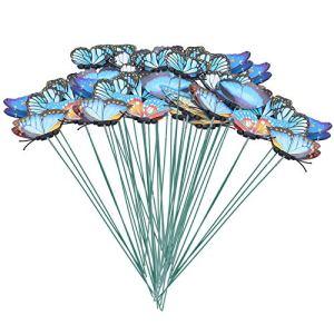 Semiter Décoration de Papillons de Simulation, piquets de Jardin Matière Plastique Matériaux de Haute qualité pour Cadeaux pour Enfants