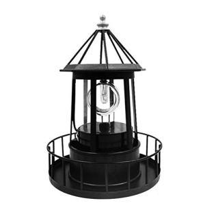 SHARRA Phare à énergie Solaire, Lampe de pelouse de Jardin de Phare Rotatif à LED, lumière décorative de Patio déco pour la Maison extérieure