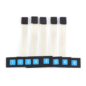 Shexton Interrupteur à Membrane, interrupteurs à Membrane électroniques à 4 Touches Claviers Claviers Panneaux de Commande SCM 5 pièces