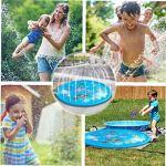 Sprinkler Tapis gonflable Vaporiser l'eau Tapis ronde d'été Kids Outdoor Splash Game Pad