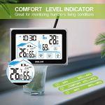 Station météo sans fil,station de prévision de thermomètre numérique intérieur extérieur, moniteur d'humidité de la température domestique,capteur numérique à distance pour hygromètre de table