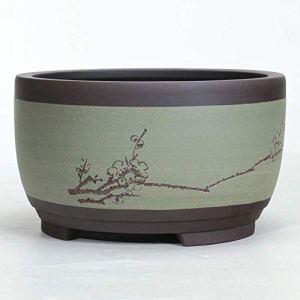 Succulent Planteur Pots décoratifs fleurs Porte-bol Flowerpot ronde en céramique Grand Moyen et Petit Bonsai Pot Plante Pots Pot Bonsai Céramique Home-Décoration chinoise for Diy-Crafts en forme de ta