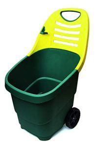 TEC HIT 390670 – Chariot de Jardin Brouette – 67 litres – 2 Roues – Diam. 170 mm – Vert/Jaune