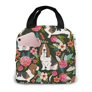 TTmom Sac isotherme pour déjeuner, pique-nique, cour et fleurs, sac isotherme, sac de pique-nique, pour femme et fille, bento