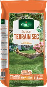 Vilmorin 4460516 Gazon Terrain Sec, Vert, 5 kg