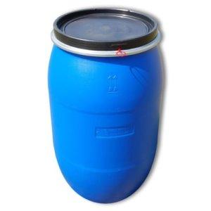 Wilai Fût Alimentaire 220 litres Ouverture totala, Baril polyéthylène Bleu (22119)