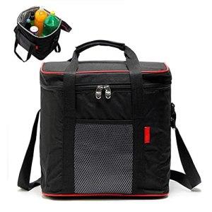 WZQZW Sac à déjeuner isotherme étanche pour la conservation du déjeuner, sac à bandoulière portable, sac de pique-nique, adapté pour barbecue, voyage, camping
