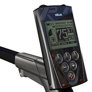 Xp Metal Detectors – Détecteur De Métaux Deus Rc2 – Technologie Sans Fil – Télécommande – Disque Dd 28 Cm Avec Protège Disque – Canne Télescopique En S