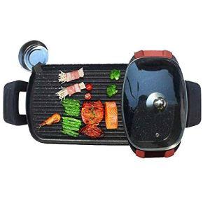 XWX Hot Pot Barbecue Électrique Amovible Cuisson Électrique Four Pan Smokeless Shabu-torréfaction Pot Intégré