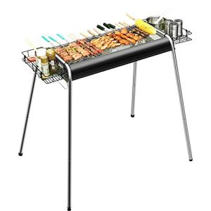 YANGYUAN Barbecue Grill, Grill Barbecue Charbon Portable, Cuisinière Grill Camping, Barbecue Outil Pliable en Acier Inoxydable Kit, Outdoor Party Voyage Camping en Plein Air De Pique-Nique