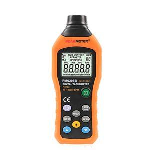 ZLININ Instrument précis PM6208B sans contact tachymètre numérique 50~99999RPM max compteur de vitesse de rotation testeur