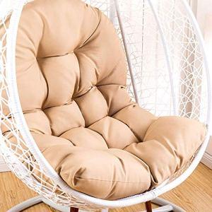 ZTGHS Balançoire Suspendue Panier Coussin Épaissie Hanging Egg Chair Hammock Pad Coussin pour Patio Jardin, 125X 95Cm (Coussin Uniquement),Flesh