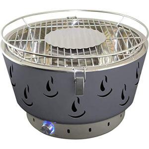 Activa Airbroil 2020 Barbecue de table au charbon de bois avec ventilation active et sac de transport Gris