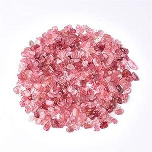 AGiao A de Nombreuses utilisations 100g 4 Tailles Rose Naturel Mixte Quartz Cristal Stone Rock Gravel Spécimen Tank Décor Naturel Stones et Minéraux Décorations (Size : 9 12mm)