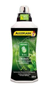 ALGOFLASH Engrais Plantes Médicinales & Aromatiques A Croissance 500 ml, ALITHEA500