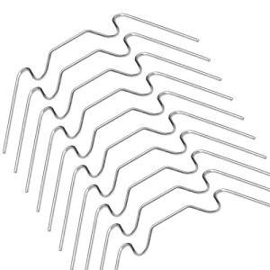 Andifany Clips de Vitrage de Serre en Acier Inoxydable W Clips de Fil Clips de Fixation de Vitre en Verre Clips de Fixation de Type W pour Serres