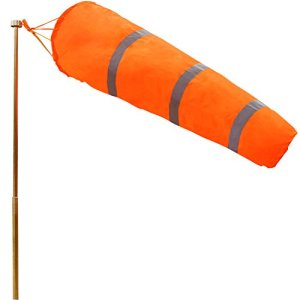 Anley 40-inch Windsock – Rip-Stop Polyester Wind Wind Measurement Sock Bag Sock with Belt Reflective – for Outdoors Airport Farm & Park – Orange 3.3 Feet