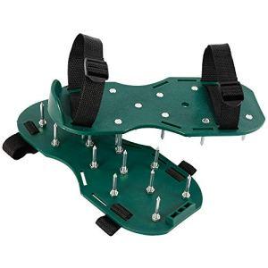 ATopoler Aérateur Pelouse Chaussures d'Aérateur de Pelouse Aérateur de Gazon avec 4 Sangles Réglables pour Jardin Pelouse Cour