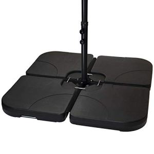 BB Sport Lestage pour parasols Dalles de Parasol pour Parasol déporté – Pied en Croix Noir 60 litres / 80 kg – Peut être rempli d'eau ou de Sable