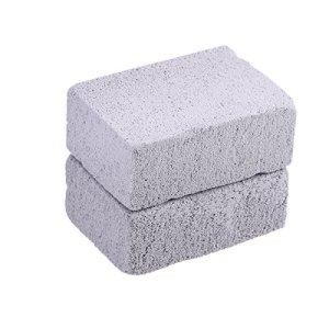 BESTONZON Lot de 2pierres de nettoyage de grill, pierre ponce écologique, réutilisable et sans odeur, pour le nettoyage et détartrage de grilles et plaques