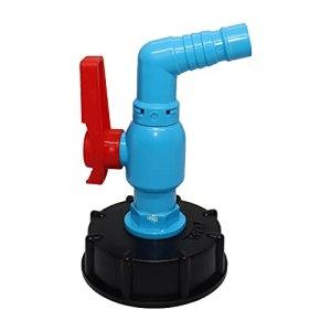 biteatey Adaptateur de robinet de réservoir IBC, connexion de robinet, robinet de sortie, réservoir de pluie, robinet optimal pour une utilisation pratique dans le jardin, l'industrie et la maison
