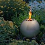 blumfeldt Supernova Boule de feu – Braséro (INOX Argent Ø 25cm, idéal pour terrasse Jardin, Fonction avec du bioéthanol, écologique et sans résidus, extincteur Inclus)