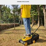 BZZBZZ Machine à Gazon électrique, Tondeuse à Gazon à Haute efficacité de 1300 W à la Main, Parc de Jardinage, réglage de la Hauteur à 3 Niveaux pour la pelouse 500-1000㎡