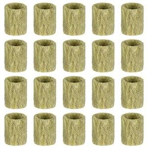 Cabilock 20 Pièces Cubes De Laine de Roche Culture Hydroponique Rockwool Bouchons Hors- Plante Cylindrique Croître Démarreur Bouchons pour Semences De Départ Hydroponique Boutures
