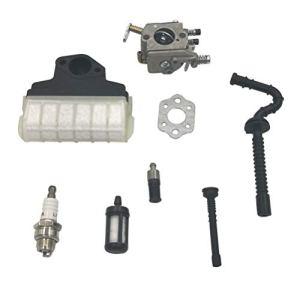 Cancanle Carburateur avec Joint de carburateur Ligne de Filtre à Carburant pour STIHL 021023025 MS210 MS230 MS250 Tronçonneuse Walbro Carburateur
