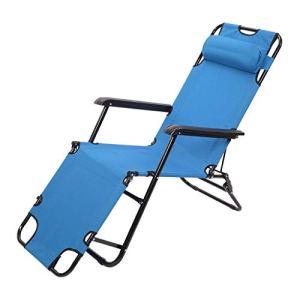 Chaise zéro Chair surdimensionnée Pliante Pliage Patio Chaise 330lbs Capacité Chaise de pelouse Ajustable pour l'extérieur, Camping, Patio, Lawn
