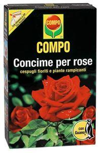 Compo, Engrais pour Roses avec Guano – Idéal également pour Les Fleurs et Les arbustes grimpants – 3 kg