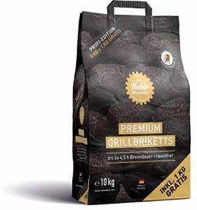 Die Kohle-Manufaktur Premium Briquettes pour Barbecue Noir 10 kg