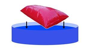 EPSS Coussin d'air pour piscine XXL – Coussin de piscine et coussin d'hiver pour bâche avec valve (2 x 2,5 m)