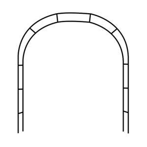 ESTEAR Arche de Jardin en métal en Fer forgé décoratif Arche Design Rustique – idéal pour la Culture de Tout Type de Plantes grimpantes – Noir