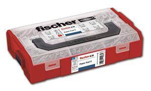Fischer – Mallette FPFII FIXTAINER, assortiment de vis pour bois, boîte assortie de 700 unités.