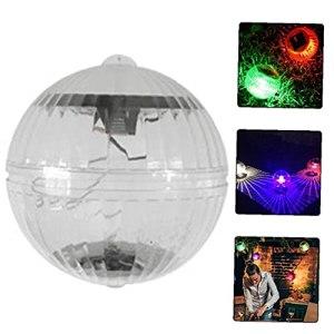 Flottante Lumière LED étanche Boule 7 couleurs Lampes solaires flottant Piscine Veilleuse pour le jardin Cour Piscine Fontaine de poissons fournitures réservoir jardinage
