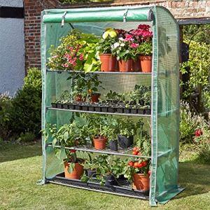 garden mile® Grande serre de jardin GroZone – Large housse de protection pour plantes – Robuste – Serre tunnel en polyéthylène (GroZone Max)