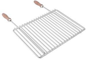 Grille de barbecue en inox européene, réglable en largeur, de 40-55x30cm, Grille Extensible