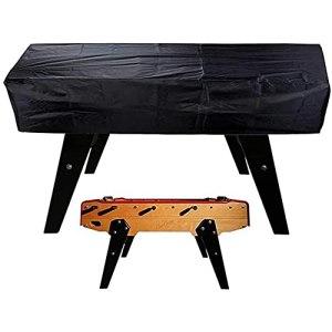 GUOXIANG Housse de protection imperméable pour babyfoot 420D Oxford Patio Protection de table de jardin Table d'extérieur pour chaises à café Billard – Noir