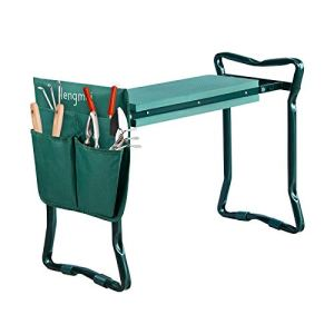 HENGMEI Tabourets de jardinage Agenouilloir siège de Jardin Pliable Genou de Jardin Banc, supporte jusqu'à 150kg